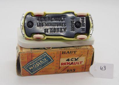 NOREV - France - 1/43e - Plastique (1)  - # 5 - 4 CV RENAULT  Jaune clair, jantes...