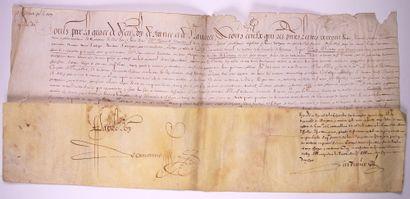 GUYENNE. 1615. Lettre Royale à l'en-tête...