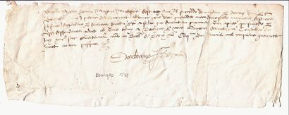 BERRY. BOURGES. Charte du 5 Avril 1548 -...