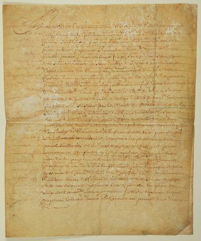GIRONDE. CARMÉLITES DE BORDEAUX. 1645. Parchemin...