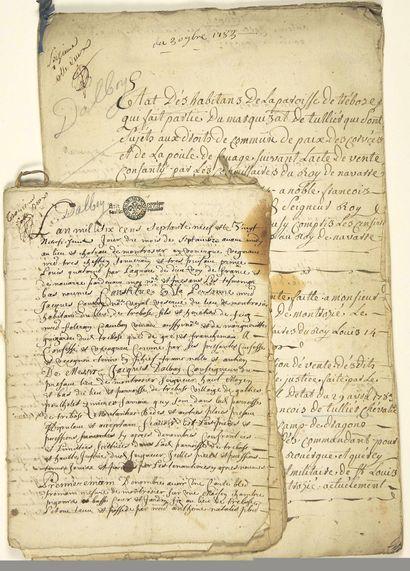 ROUERGUE. 1540. AVEYRON. Fief de MONTROZIER....