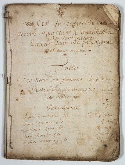 PUY-DE-DOME. 1612. TERRIER DU SEIGNEUR DE...