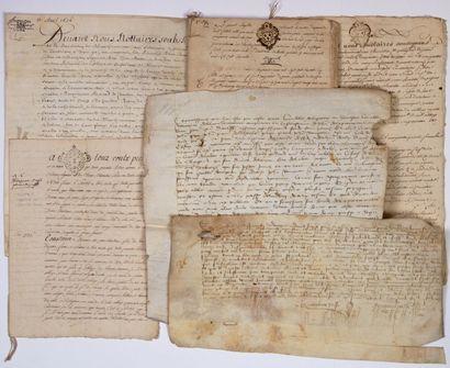 (LOIRE-ATLANTIQUE. 1434.). 5 Documents concernant...