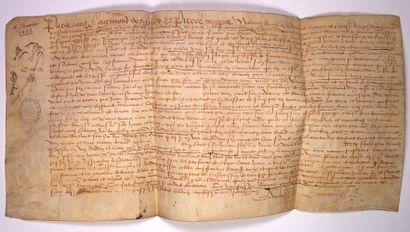 BEAUVAISIS. 1558. Consentement et accord...