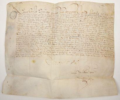 GÉNÉRALITÉ DE SOISSONS (AISNE). 1600. GRENIER...