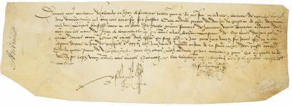 CHÂTEAU DE CAEN (14). 1536. Parchemin (28...