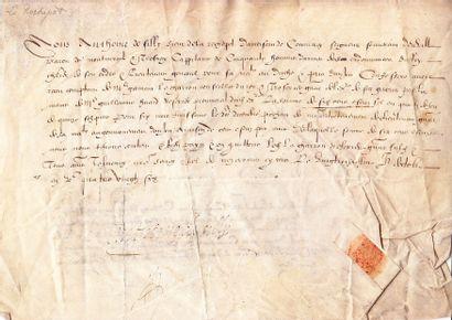 ANJOU. 1586 - Antoine de SILLY Comte de LA...