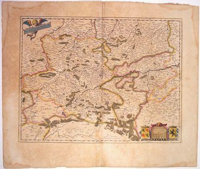 Carte XVIIe s.: BELGIQUE. NAMUR. HANNONIE....