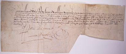 PROVENCE. 1588. Mandement, au nom d'HENRY...