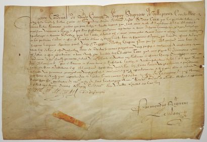 YONNE. 1605. COURTIER EN VINS. - CARDINAL...