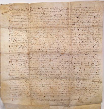 1552 - (LOIRE) FOREZ - TESTAMENT de Noble...