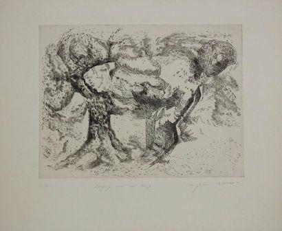 Magdeleine Vessereau (1915 – 2000)  « Paysage...
