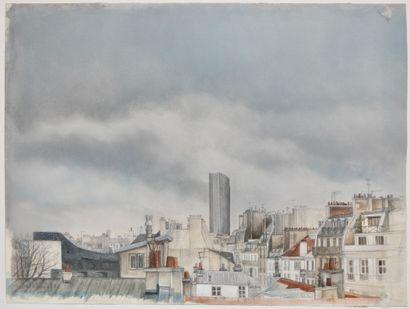 Cathy Rebeyrol (XXe siècle)  Vue de Paris...