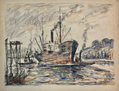 Fernand Laval (1986-1966)  Environs de Rouen,...