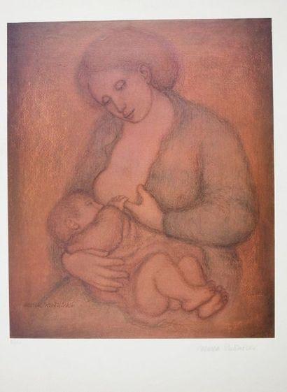 Marek Rudnicki (1925-2004)  Maternité  Sérigraphie...
