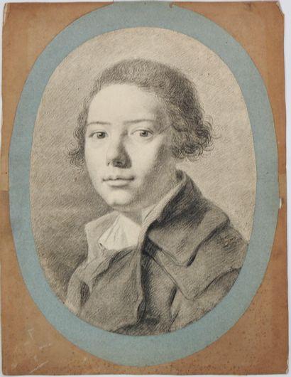 Anonyme (XIXe siècle)  Portrait de jeune...