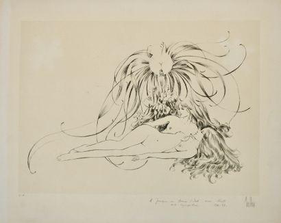 Yves Chaix (né en 1936)  Deux lithographies...