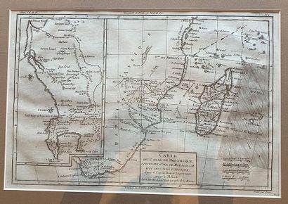 Carte du Canal du Mozambique gravée par Dien...