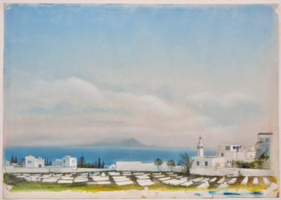 Cathy Rebeyrol (XXe siècle)  Tunisie, Cimetière...