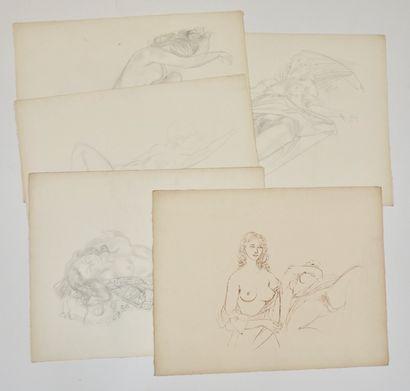 Braig (XXe siècle)  Ensemble de 18 dessins...