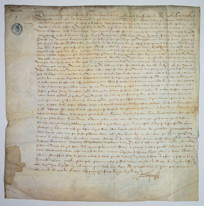 PRÉVÔTÉ D'ORLÉANS, 11 Juillet 1588. Réception...