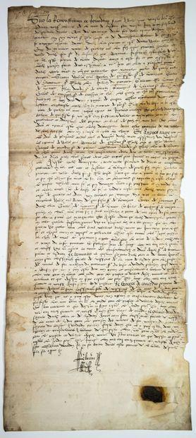 BRETAGNE. MORBIHAN. 1549. Devant la la Cour...
