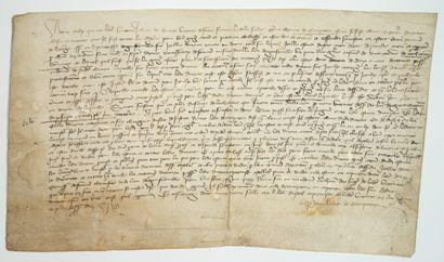 NORMANDIE. MANCHE. Charte de 1397. A tous...