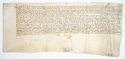 SARTHE. 1599. «En la Cour Royal du MANS.....