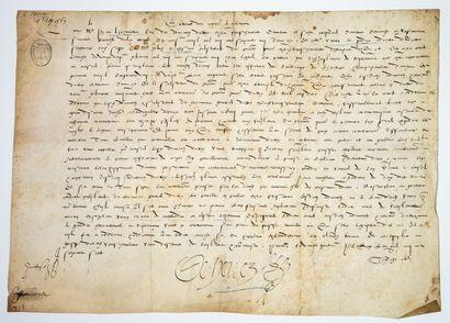 ANJOU. SARTHE. 1567. Sénéchaussée du MAINE...