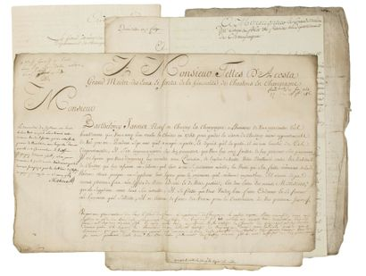 CHAMPAGNE. MEUSE. 6 Documents signed
