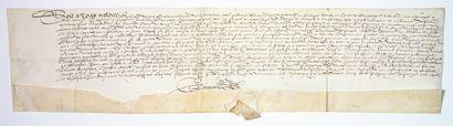 DOUBS. JURA. 1567. Devant Guillaume LARQUAND...
