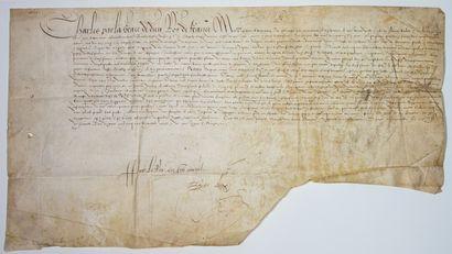 CHAMPAGNE. 1569. VAUCOULEURS (Meuse). Sentence,...