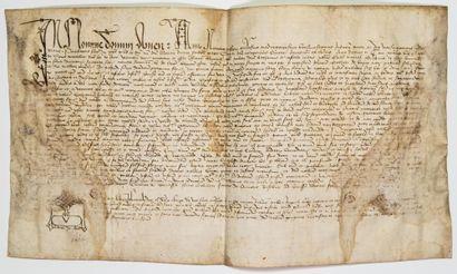 COMTÉ D'AVIGNON. 1426. Quittance de Cens...