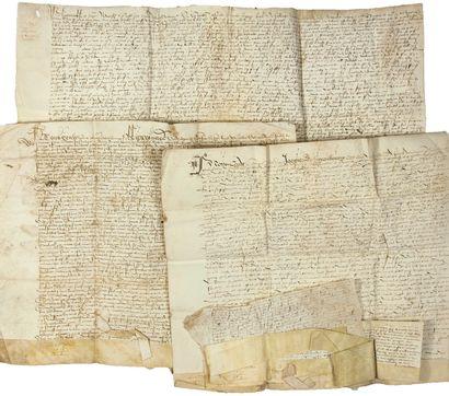 COMTÉ D'ARTOIS. 1518. CAMBRÉSIS. 11 PARCHEMINS:...