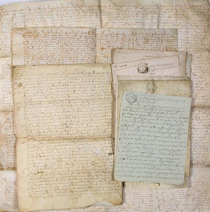 (LOIRE-ATLANTIQUE. 1557.) 10 Parchemins et...