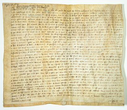 SARTHE. 1379. Acquisition du lieu de LA HOUSSAYE...