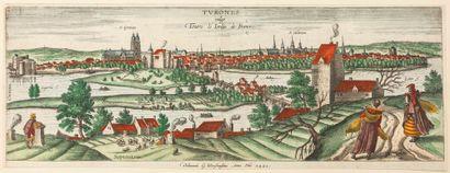 INDRE-ET-LOIRE. 1561. Vue de la Ville de...