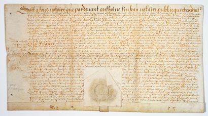 DOUBS. JURA. 1573. Pardevant Anthoine TINSEAU,...