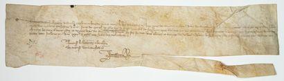 Charte de 1364. Quittance des Gens des Comptes...