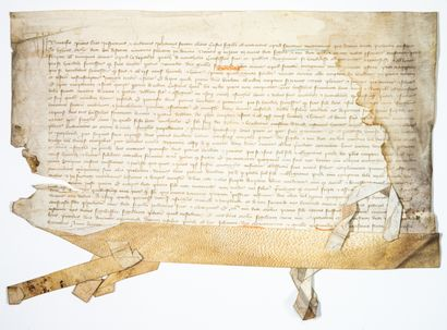 DEUX-SÈVRES. 1391. Devant Jehan FANTIN Garde...
