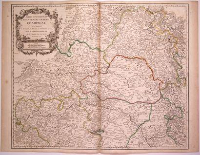 Carte: «Partie Septentrionale du Gouvernement général de CHAMPAGNE, où se trouvent...