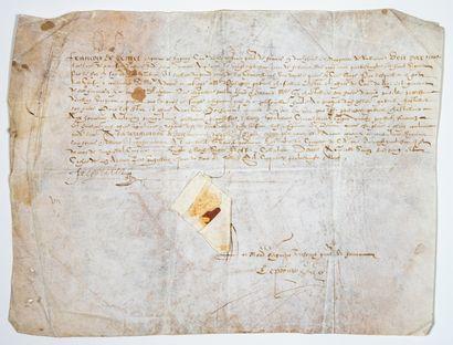 ISÈRE. 1589. DAUPHINÉ. Devant «François de...