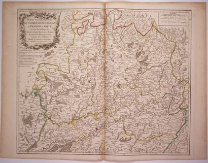 Carte de 1749: «Partie septentrionale du Comté de BOURGOGNE ou FRANCHE-COMTÉ, où...