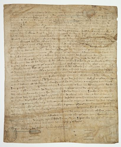 1380. Contrat de Mariage de Jehan FOUSSARD,...