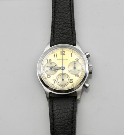 WITTNAUER , Rare bracelet montre chronographe...