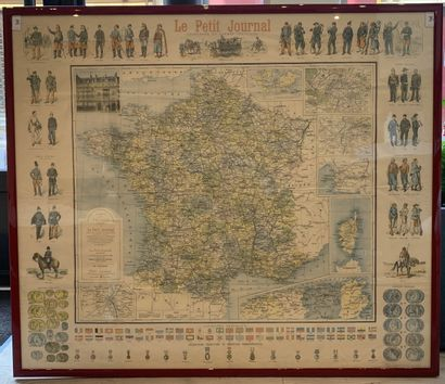 1 Carte Carte de France encadrée du Petit...