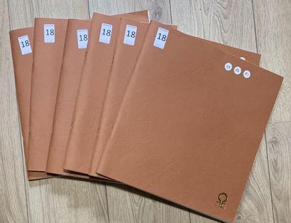 6 Classeurs France SM en feuilles complètes...