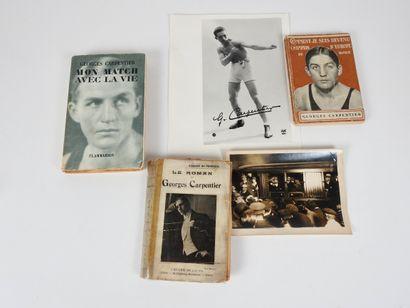 Boxe. Carpentier (1894-1975). Trois livres...