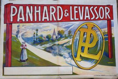 Automobile . Panhard . Vie paysanne. Affiche...