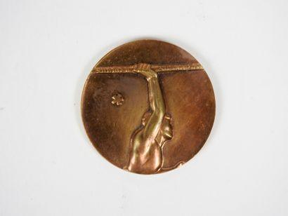 Athlétisme. Lanceur de javelot. Médaille...